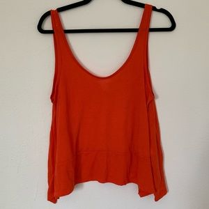 H&M Conscious Orange Relaxed Tank Top